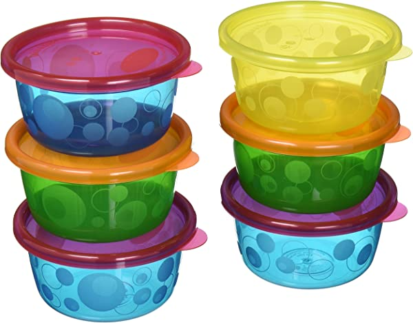 Take Toss Toddler Bowls With Lids 8oz 6 Pack