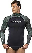 Cressi Cobia, Adult Camouflage Hooded Rash Guard - Neoprene Padded Chest