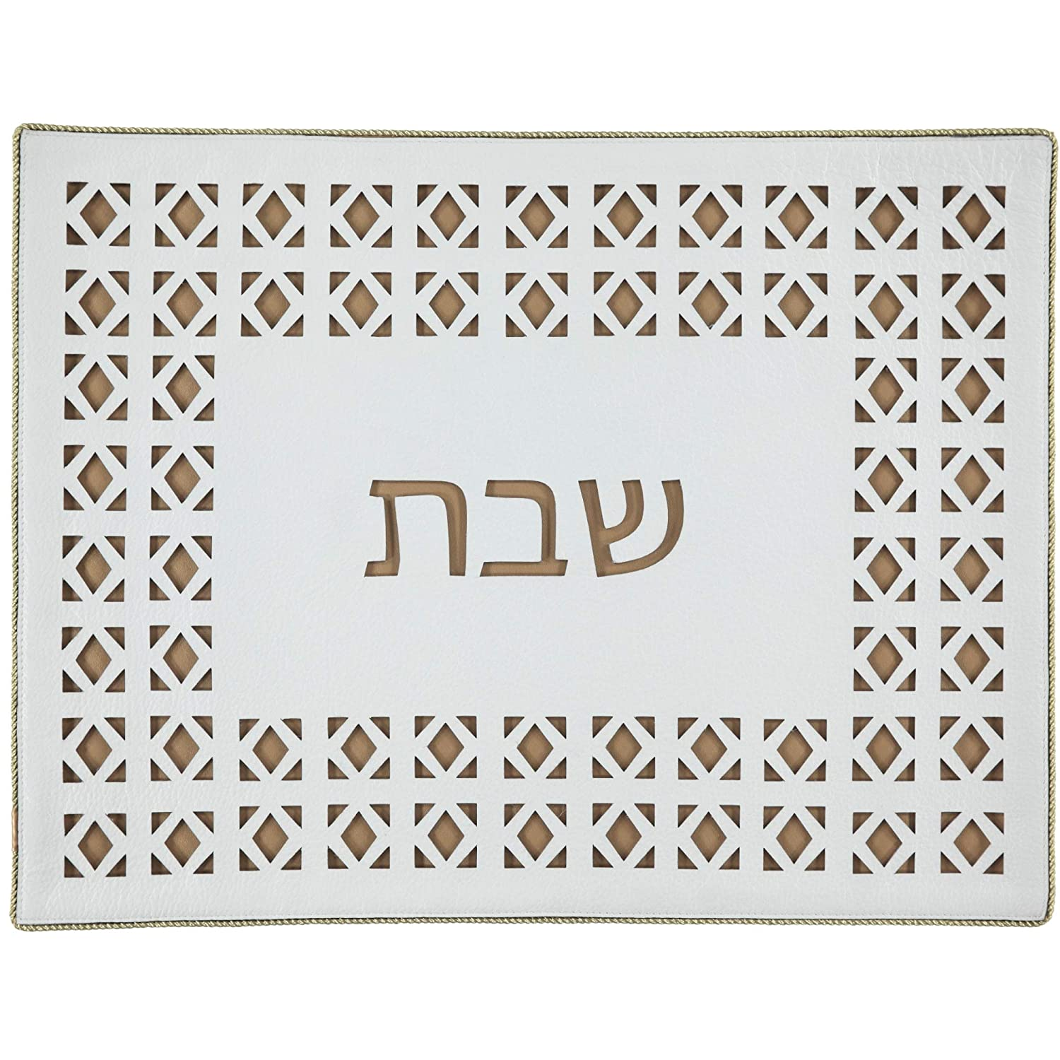 40% OFF Cheap Sale Genuine Leather Laser Cut Diamond in Challah Cover Sale Special Price Gold
