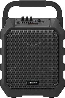 Fisher FBX490 8-Inch Portable Wireless Speaker System, Bluetooth, PA Loudspeaker, Karaoke Features, Microphone Input, FM Radio, Aux Input