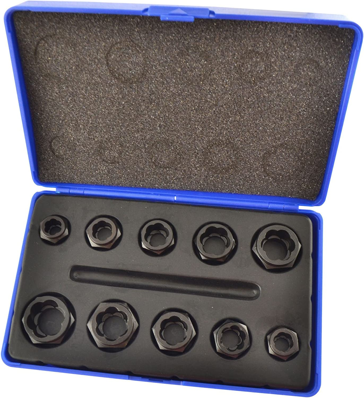 10pc Nut Style 業界No.1 Bolt Twist Wheel セール特価 Lock Remover Extracto Socket