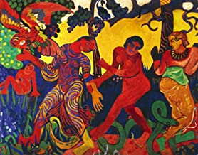 André Derain - The Dance, Size 24x32 inch, Gallery Wrapped Canvas Art Print Wall décor