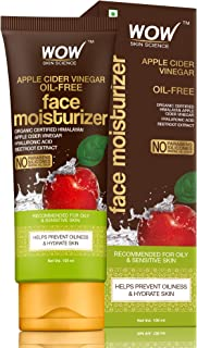 WOW Skin Science Organic Apple Cider Vinegar Face Moisturizer - Oil Free, Quick Absorbing - For Normal/Oily and Acne Prone Skin - No Parabens, Silicones, Mineral Oil, Color - 100mL