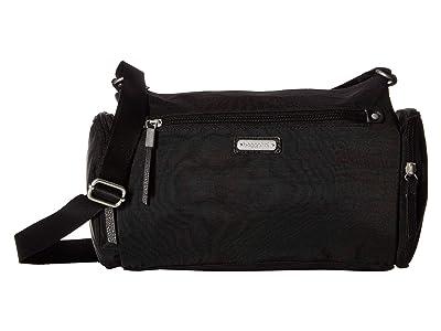 Baggallini Road Trip Hobo with RFID Phone Wristlet (Black) Handbags