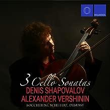 Boccherini, Schubert, Debussy: 3 Cello Sonatas