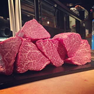 100% A5 Grade Japanese Wagyu Kobe Beef, Filet Mignon, 2 Pack of 8 Ounce