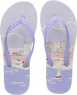 Joules Printed Flip Flops - Seaside - UK 10 / EU 28 / US 11