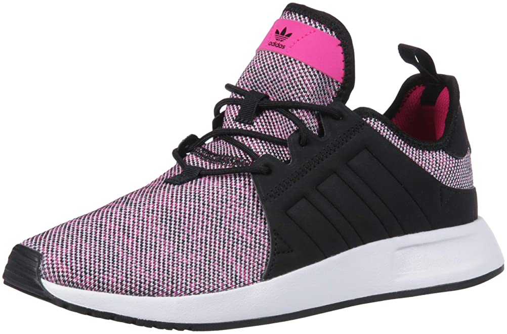 小屋インタフェース船尾adidas Originals Unisex X_PLR Running Shoe, Shock Pink/Black/White, 6 M US Big Kid