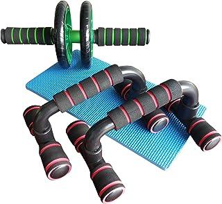 Miars腹筋ローラー プッシュアップバー 腕立て伏せ 筋トレセット 筋肉トレーニング トレーニング器具 肉体改造 腹筋トレーニング 取り付け簡単 腕立てスタンド 床パッド付き