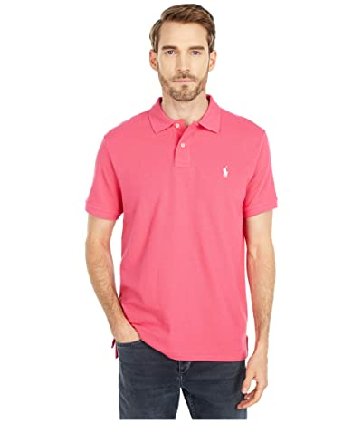 Polo Ralph Lauren Custom Slim Fit Mesh Polo (Hot Pink) Men