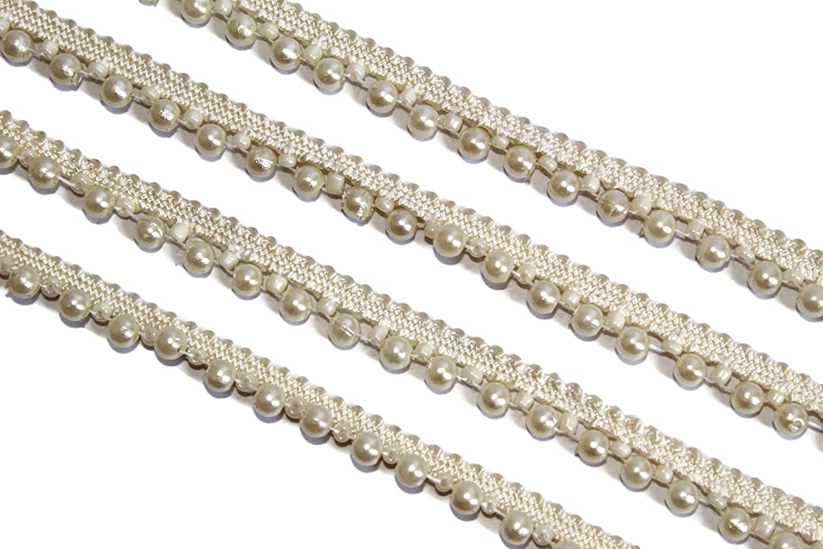 09 yards of pearl beads trim for garland flowers by iDukaancrafts