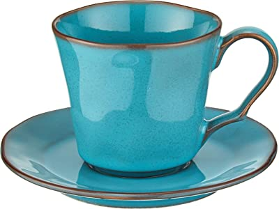 光洋陶器 ラフェルム コーヒーカップ&ソーサー アンティークブルー 13587052&13587055