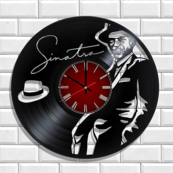 Olha Art Design Frank Sinatra HANDMADE Vinyl Record Wall Clock Perfect Gifts For Birthday Wedding Anniversary Valentine S Mother S Father S Day Gift Ideas For Men And Women Him And Her
