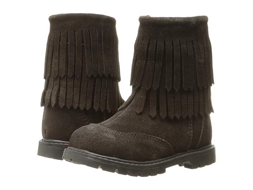 Roper Kids Fringe Moc (Toddler) (Brown Suede Vamp Shaft) Cowboy Boots