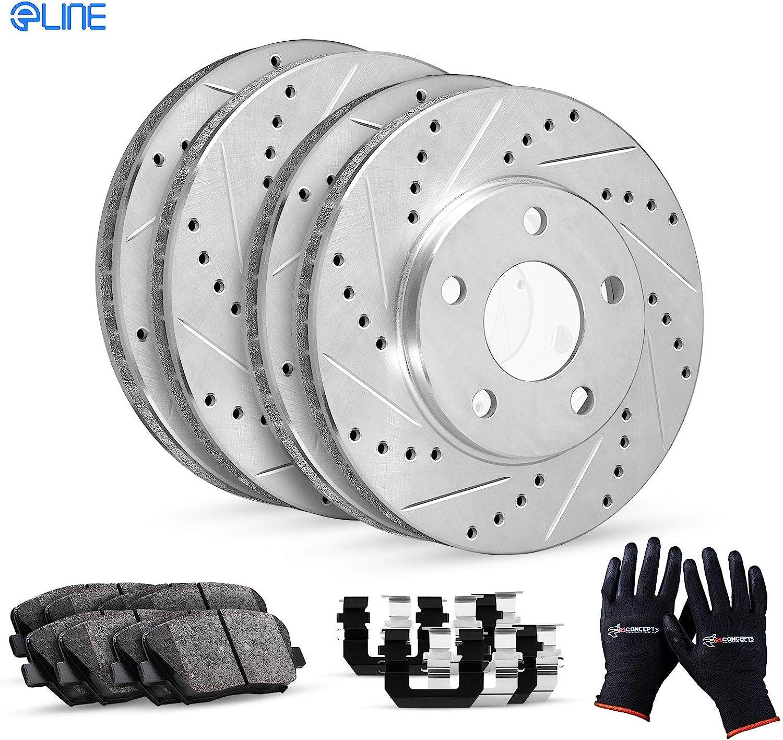 Complete Kit R1 Be super welcome Concepts eLine Cer Rotors Drill Brake Spring new work Slot