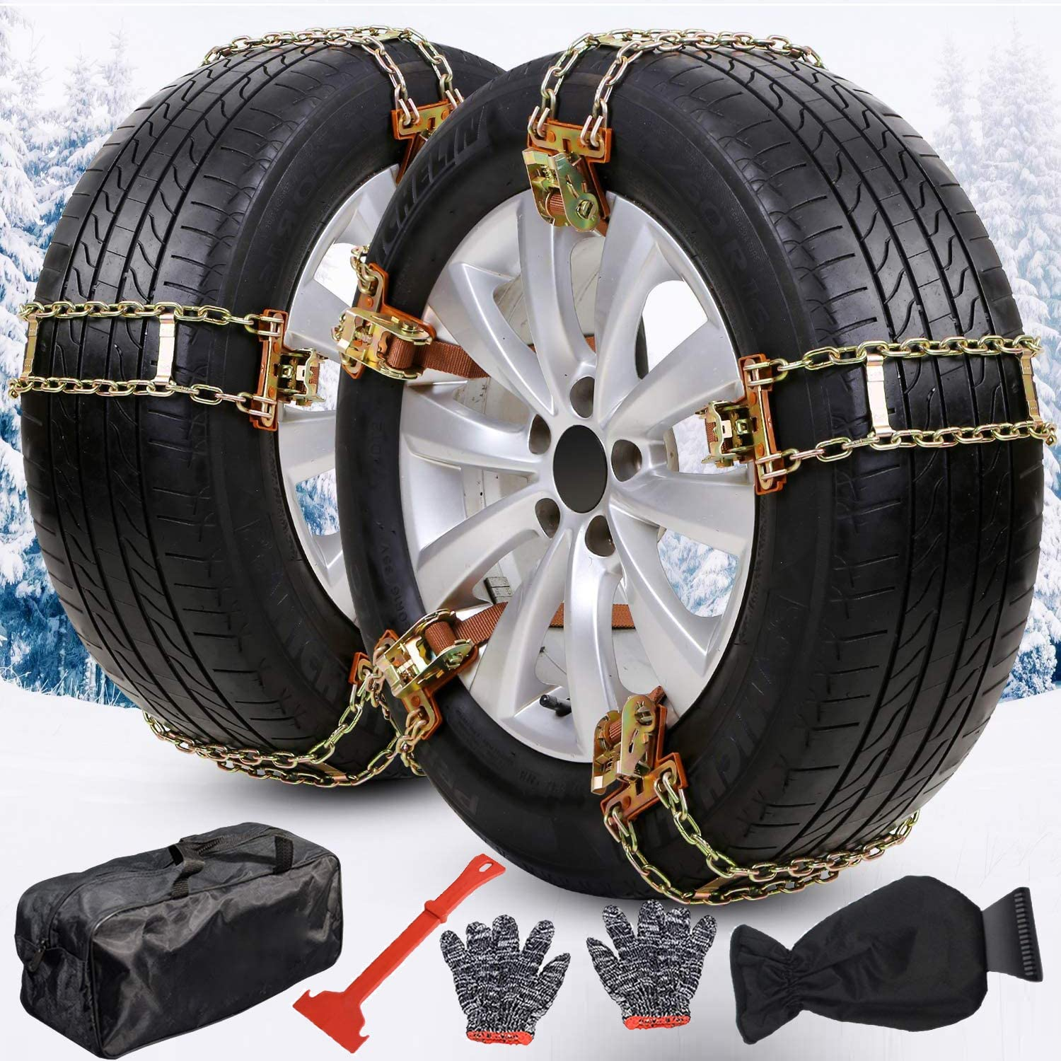 HZT Snow At the price Bombing free shipping of surprise Chains Update 8PCS Car Ch Passenger Tire