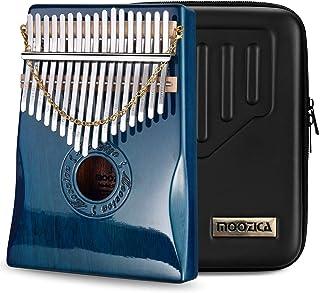 Moozica 17 Keys Kalimba Thumb Piano, Solid Mahogany Wood Professional Marimba Mbira with Piano Lacquer Finishing Musical I...