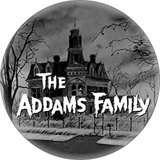 """The Addams Family - House with Logo - 1.25"""" Round Button"""