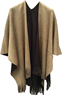 Womens Casual Knitted Faux Cashmere Shawl Cardigans Sweater Coat