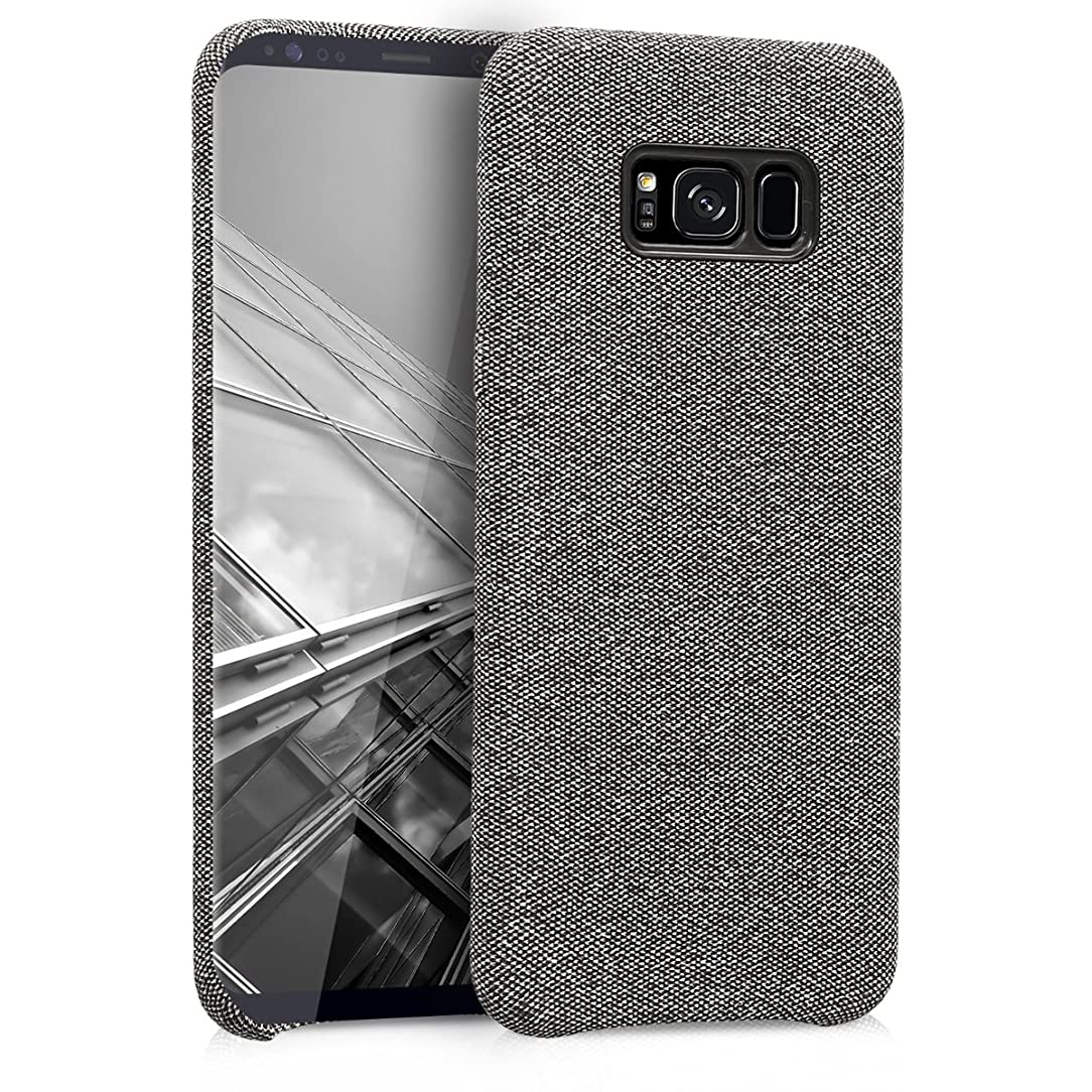 kwmobile TPU Case for Samsung Galaxy S8 Plus - TPU and Fabric Smartphone Cell Phone Cover in Canvas Design - Grey