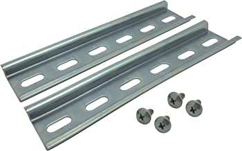 Electrodepot Slotted Steel Zinc Plated DIN Rail, 35mm x 6