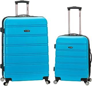 Rockland Melbourne Hardside Expandable Spinner Wheel Luggage, Turquoise, 2-Piece Set (20/28)