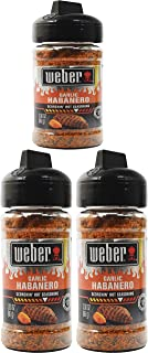 Set of (3) 3oz Garlic Habanero - Scorchin' Hot Seasoning - Great for Steaks, Chicken, Fish, and More! - Gluten Free