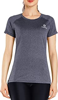 Ogeenier Women's Running Shirts Short Sleeve Workout Yoga Sports T-Shirt Quick Dry Tops