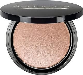 Aesthetica Starlite Highlighter - Metallic Shimmer Highlighting Makeup Powder - Cosmos (Sparkling Rose Gold)