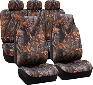 FH Group Universal Fit Full Set Car Seat Cover, (Hunting Camouflage) (Airbag Compatible and Split Bench, Fit Most Car, Tru...