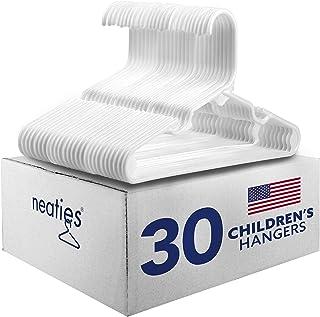 Sponsored Ad - Neaties Children`s Size White Plastic Hangers, USA Made Long Lasting Tubular Hangers, Set of 30