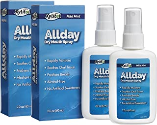Allday 100% Xylitol-Sweetened Dry Mouth Spray, 2 oz Bottle (Pack of 2)
