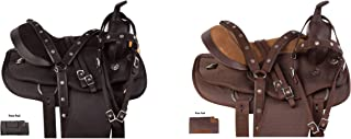 "AceRugs 15"" 16"" 17"" 18"" Walking Horse TN GAITED Saddle TACK Set Western Pleasure Trail Light Weight Synthetic Cordura"