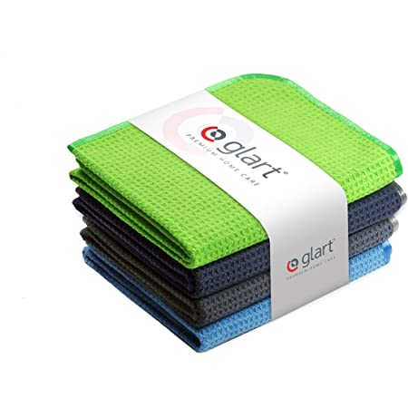 Glart 4 Super Soft Microfibre Cloths 40 x 40 cm, for Car Cleaning, Detailing and Drying