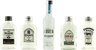 Geschenkset Klare Wodkas Mini | Polnische Wodkas | 4 x 0,1 Liter, 1 x 0,05 Liter