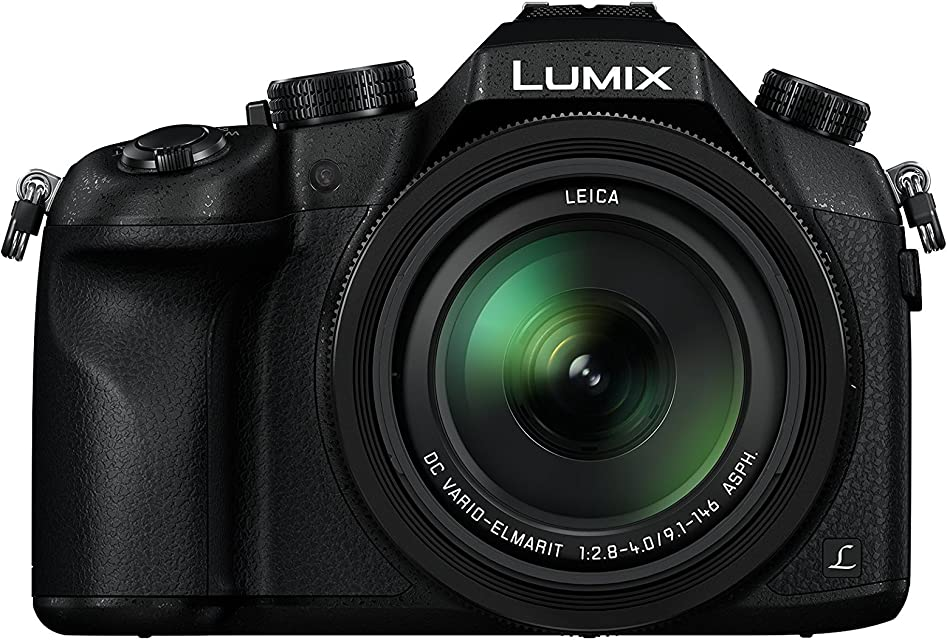 Panasonic Lumix - Cámara de Fotos Bridge Expert DMC-FZ1000F9 (Sensor Grande Tipo 1 Pulgada 20 MP Zoom Leica 16x F2.8-4.0 Visor OLED Pantalla orientable vídeo 4K estabilizado) Color Negro