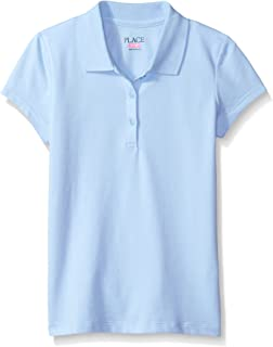 The Children's Place Girls' Uniform Short Sleeve Polo
