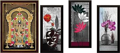 SAF Glass Floral Painting
