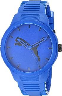 Puma Men's Reset V2 Quartz Three Hand Silicone Watch - Featuring Puma Jumping Cat Logo