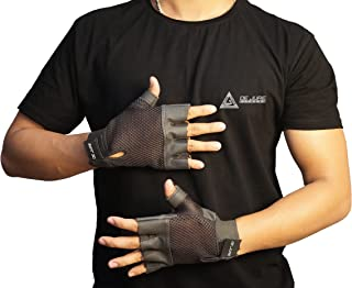 De jure Fitness Gym Gloves for Weight Lifting Crossfit Fitness Workout Exercise Hand Grips for Men & Women