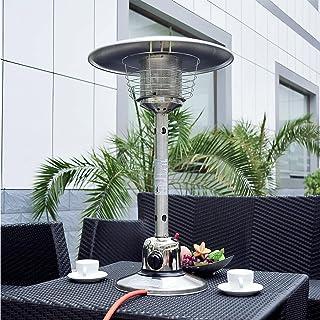 BKWJ Chauffe-terrasse au gaz de Table, Chauffe-Parapluie en Acier Inoxydable, Chauffe-Eau Portable au gaz Naturel à économ...
