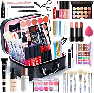 Professional Makeup Set,MKNZOME Cosmetic Make Up Starter Kit With Makeup Case Portable Travel Make Up Palette Birthday Xma...