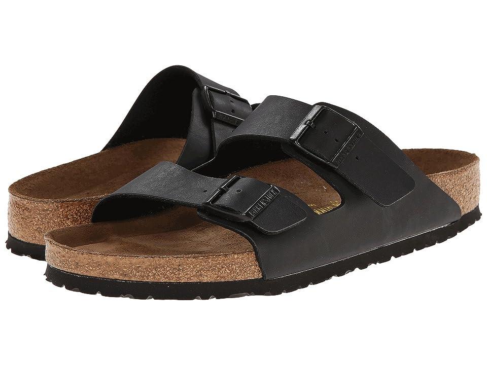 Birkenstock Arizona Soft Footbed (Black Birko-Flortm) Sandals