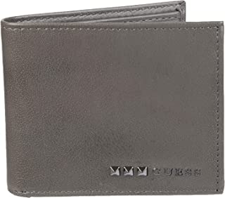 GUESS mens Rfid Security Blocking Leather Wallet Bi-Fold Wallet - gray - One Size