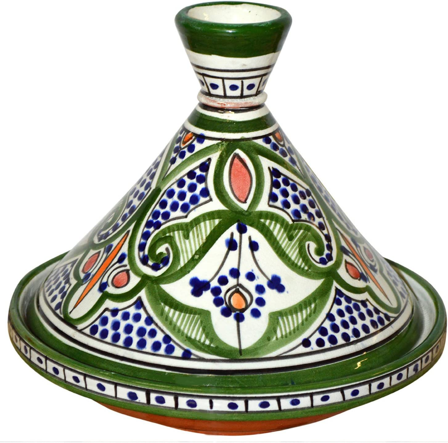 Moroccan Handmade Serving Tagine Louisville-Jefferson County Mall Exquisite Vivid With Ceramic co Now on sale