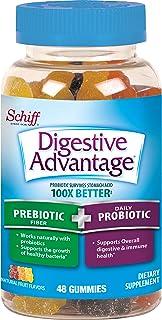 Prebiotic Fiber Plus Probiotic Natural Fruit Flavor Gummies, Digestive Advantage (48 Count in A Bottle) - Supports Digesti...