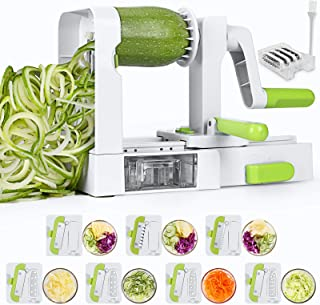 Sedhoom Coupe Legume, Spiralizer 7 Lames Coupe-légumes Spirale de Légumes, Spiralizer Legume Spaghetti, Pliable Trancheuse...