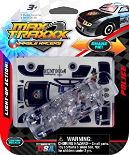 Max Traxxx Award Winning Police Chief Light Up Marble Racer Gravity Drive 1:64 Scale Car