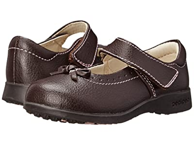 pediped Isabella Flex (Toddler/Little Kid) (Chocolate Brown) Girl