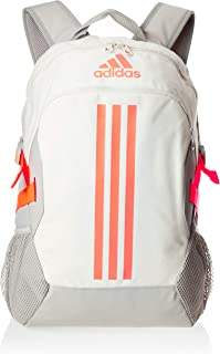 adidas Unisex Power V Backpack, Metal Grey/Signal Coral